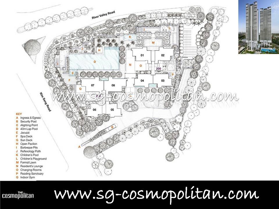 Site Plan | The Cosmopolitan, Singapore Condo, Condominium ...